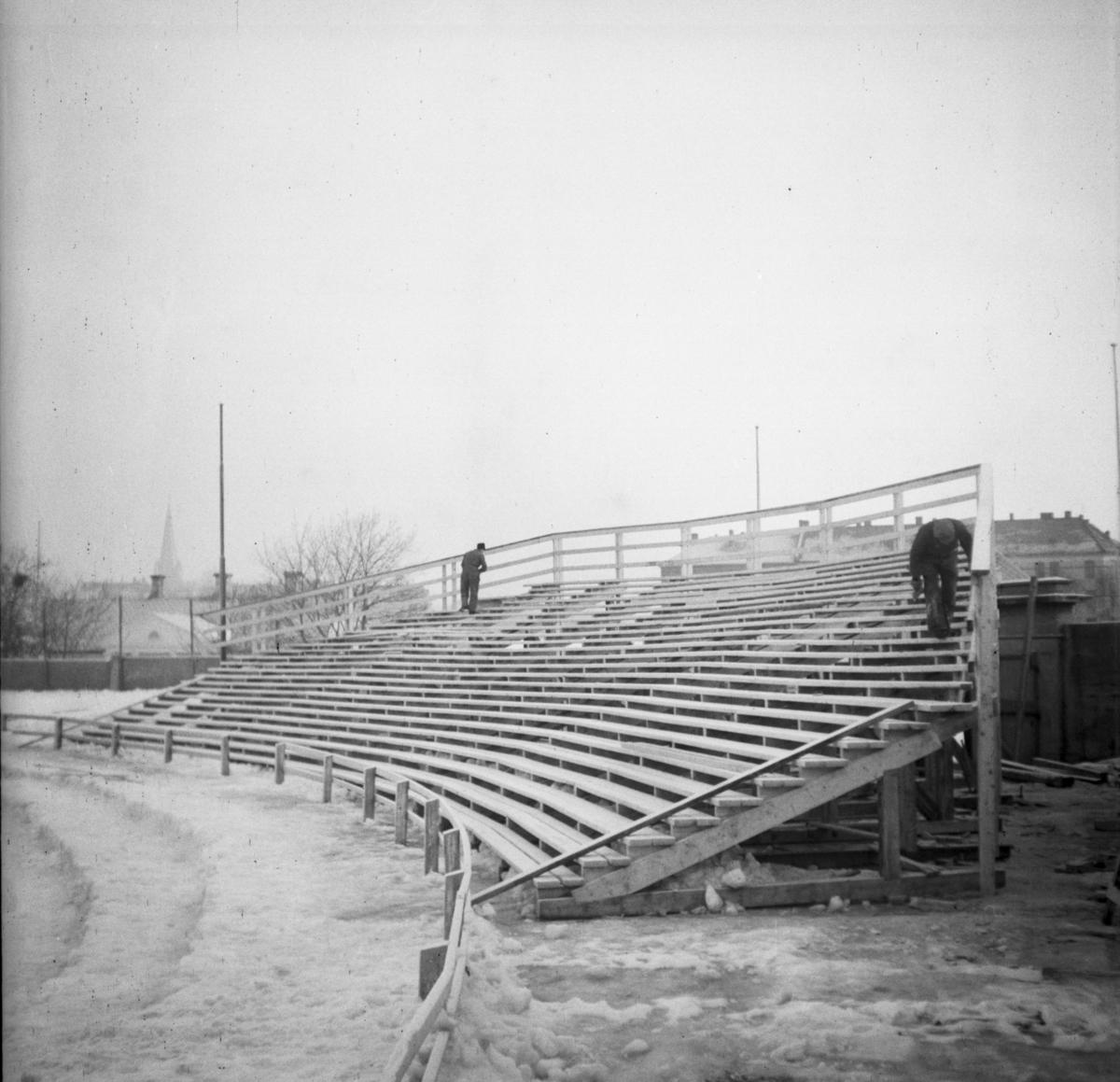 Forberedelse til NM på Stadion