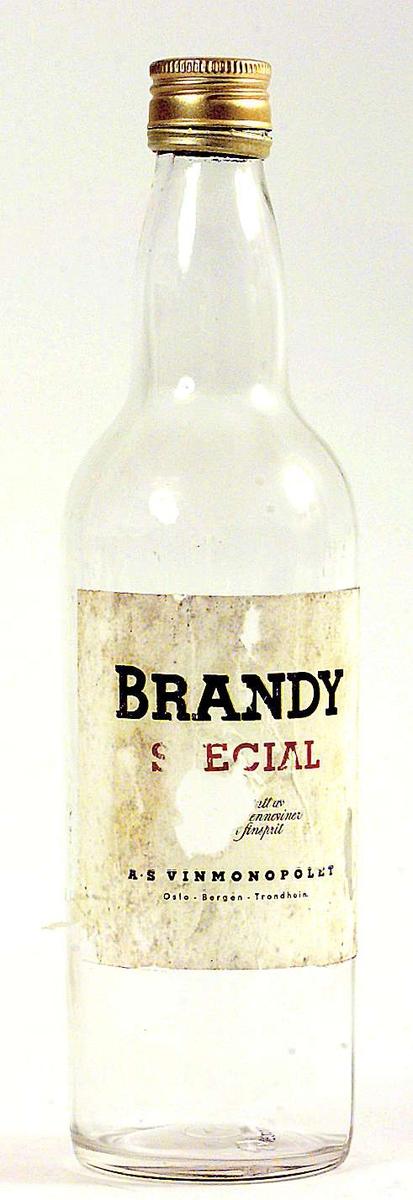 Brennevinsflaske med skrukork